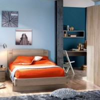 Tienerkamer Tweed Naturel
