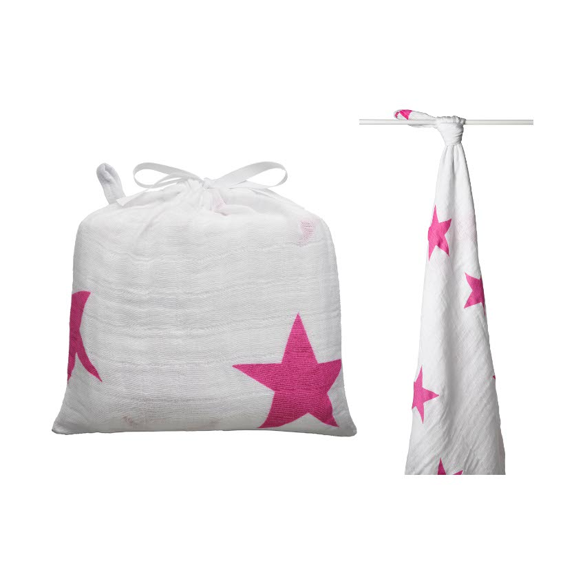 Aden + Anais Swaddling Wrap Twinkle Pink