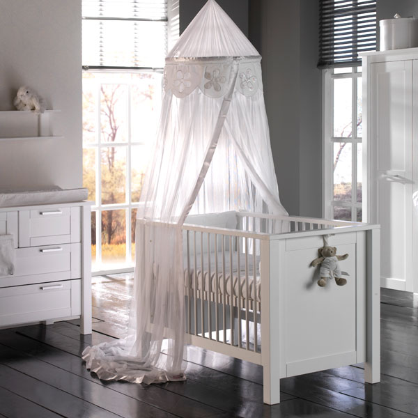 Babykamer Como Wit - Ledikant - Commode