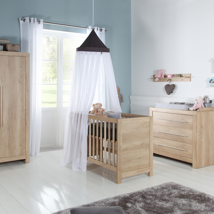 Babykamer Forest Naturel - Ledikant - Commode - Kast