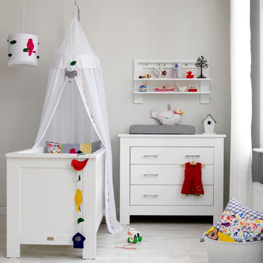 Babykamer New Basic - Ledikant - Commode - Kast