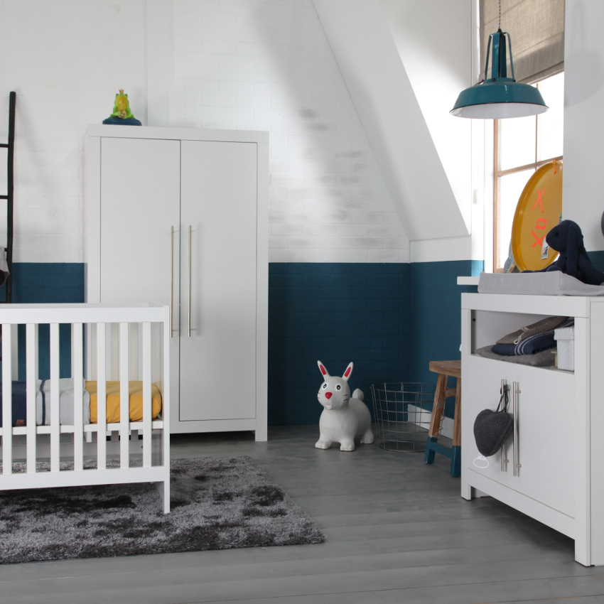 Babykamer Vittoria Wit Basic - Ledikant - Commode
