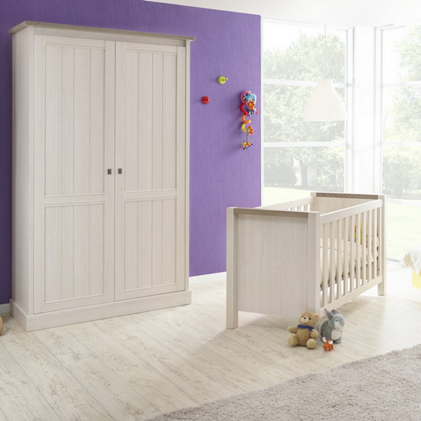 Babykamer York - Ledikant - Commode - Kast