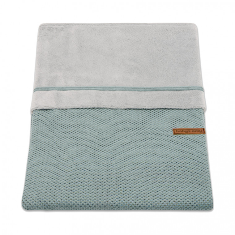Baby's Only Wiegovertrek Classic Stone Green 80 x 80 cm