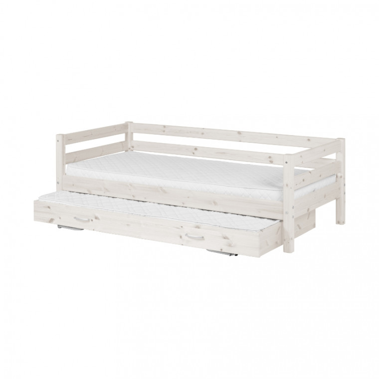 Flexa Classic Bed Met Onderschuifbed Whitewash