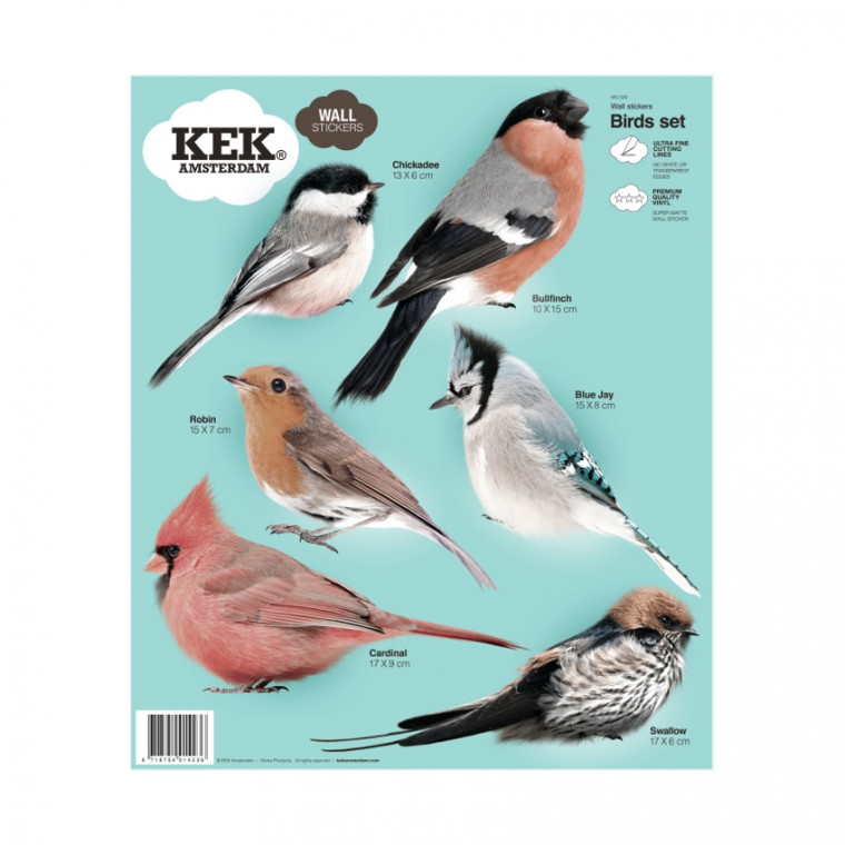 KEK AMSTERDAM Muursticker Birds Set