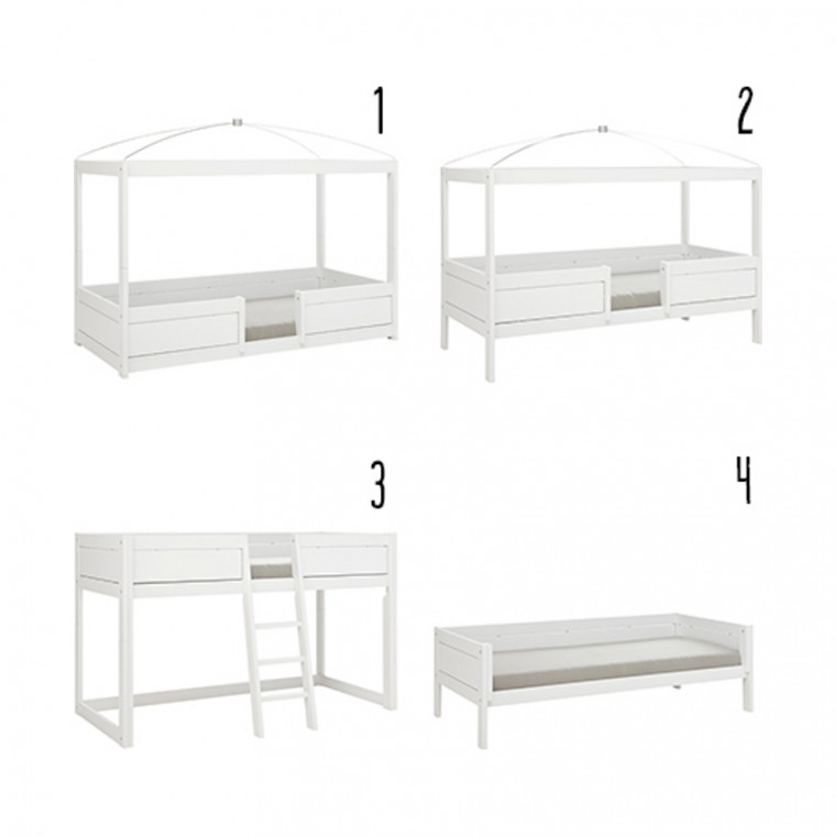 Life Time 4 in 1 Bedcombinatie Wit Gelakt