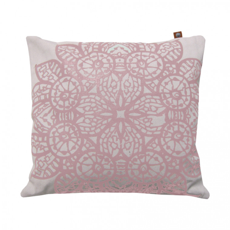 Overseas Kussen Lace Blush / Off White 45 x 45 cm