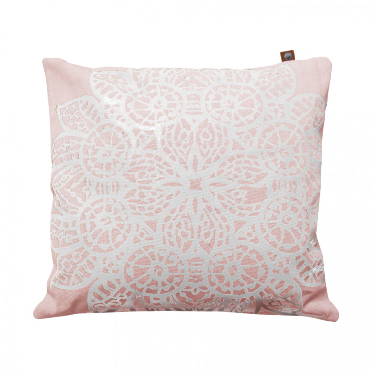 Overseas Kussen Lace Off White / Blush 45 x 45 cm