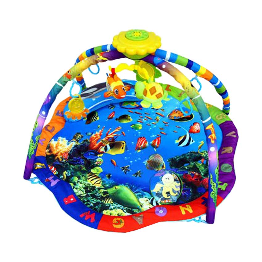 La-di-da Speelkleed Ocean World Blue