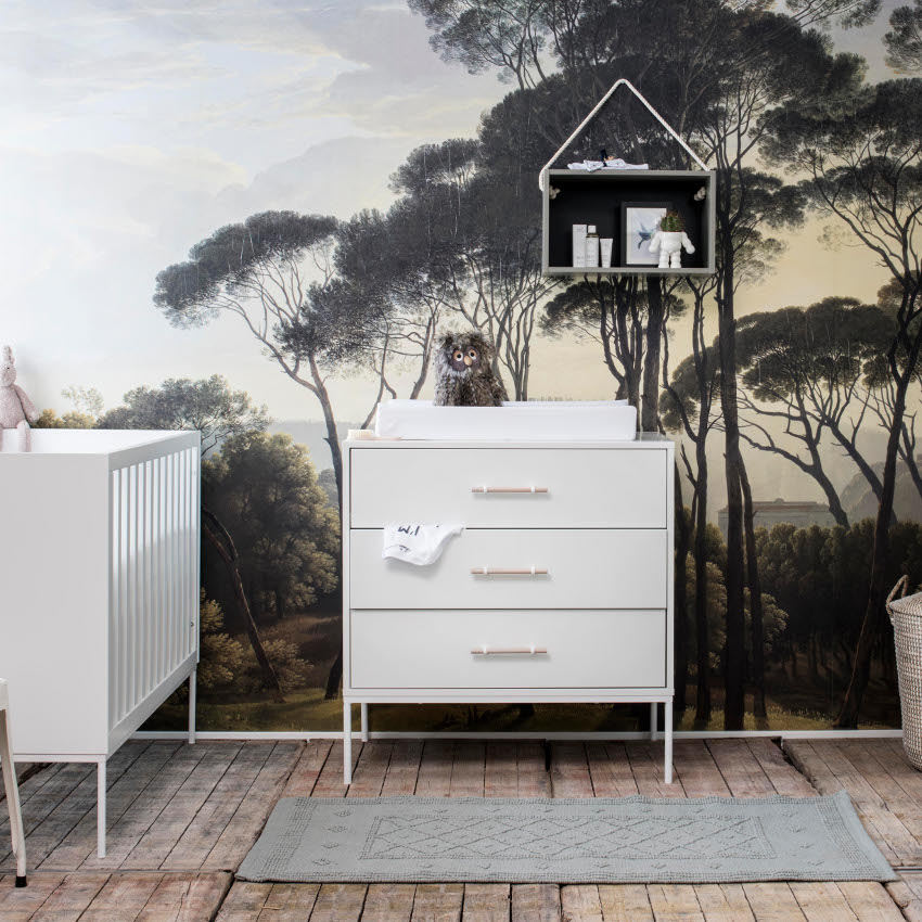 Babykamer Flint Wit - Ledikant - Commode - Kast