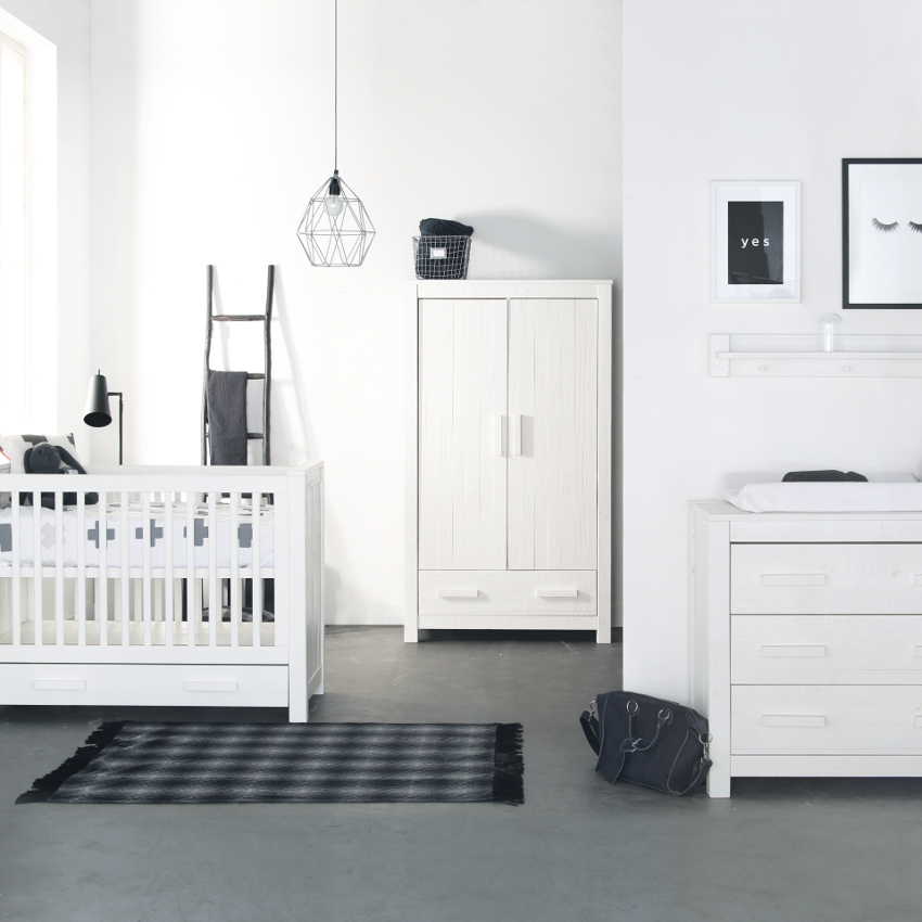 Babykamer Juno Wit - Ledikant - Commode