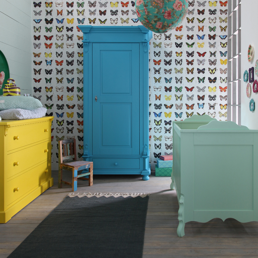 Babykamer Mix - Ledikant - Commode - Kast