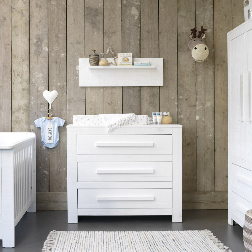 Babykamer Salty - Ledikant - Commode - Kast