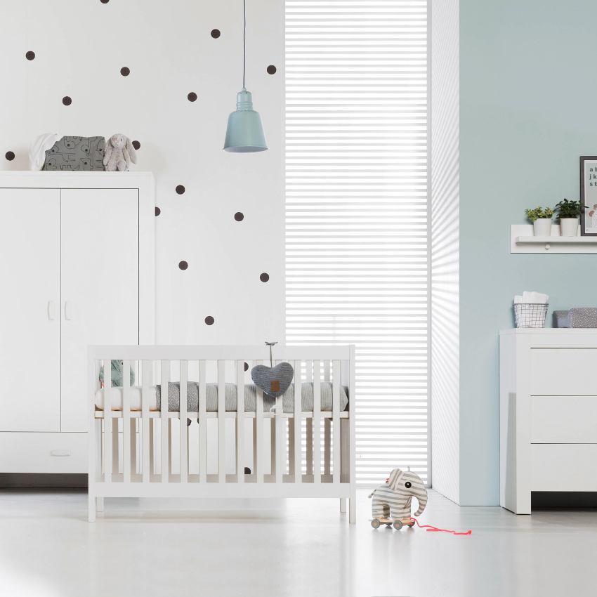 Babykamer Sylt Wit - Ledikant - Commode