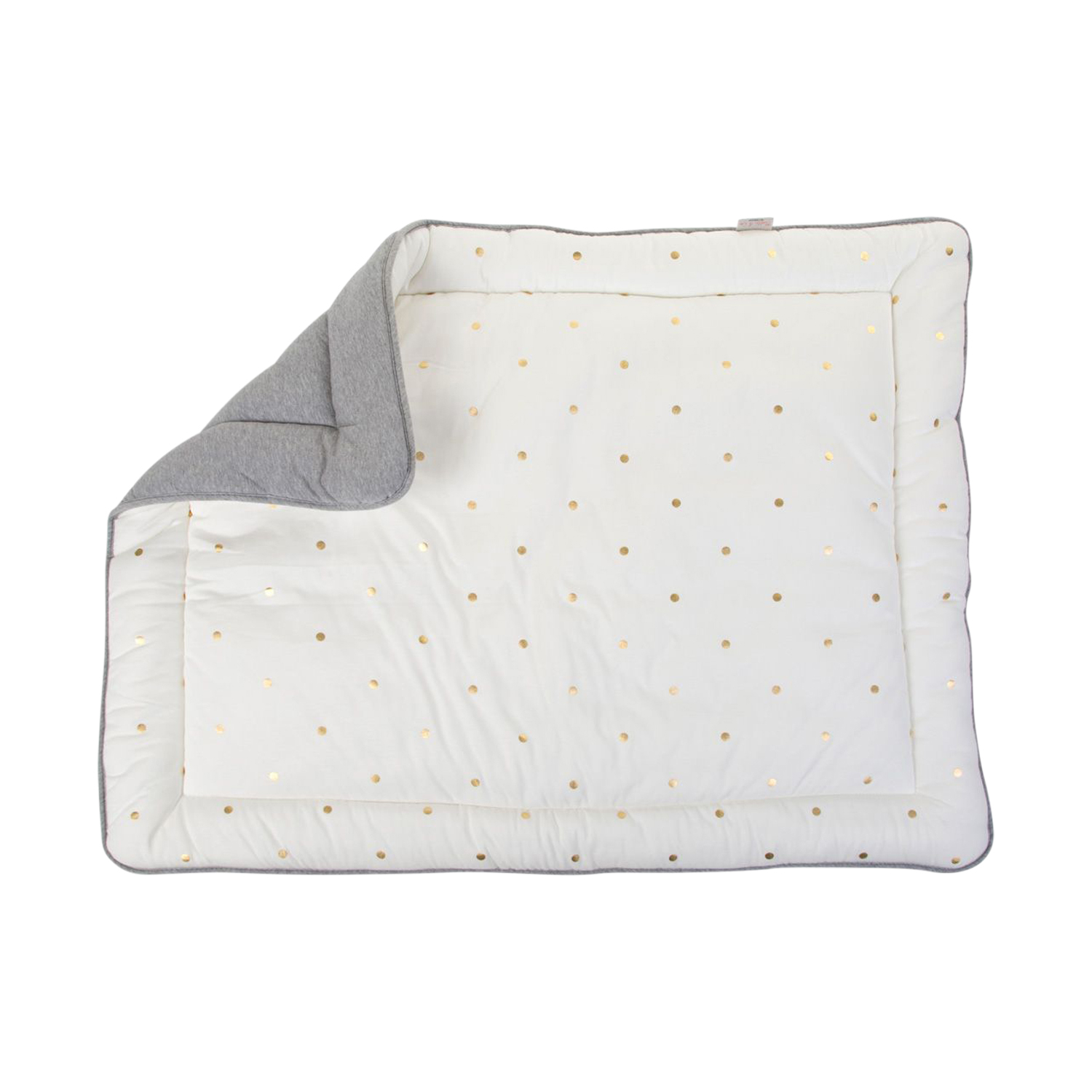 Childhome Boxkleed Grey - Gold Dots 75 x 95 cm