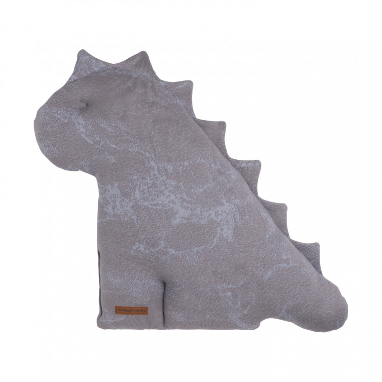 Baby's Only Marble Dino Knuffel Cool Grey / Lila