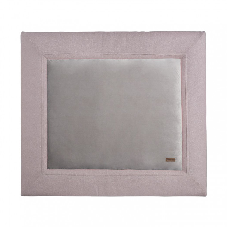 Baby's Only Sparkle Boxkleed Zilver  Roze Mêlee 75 x 95 cm