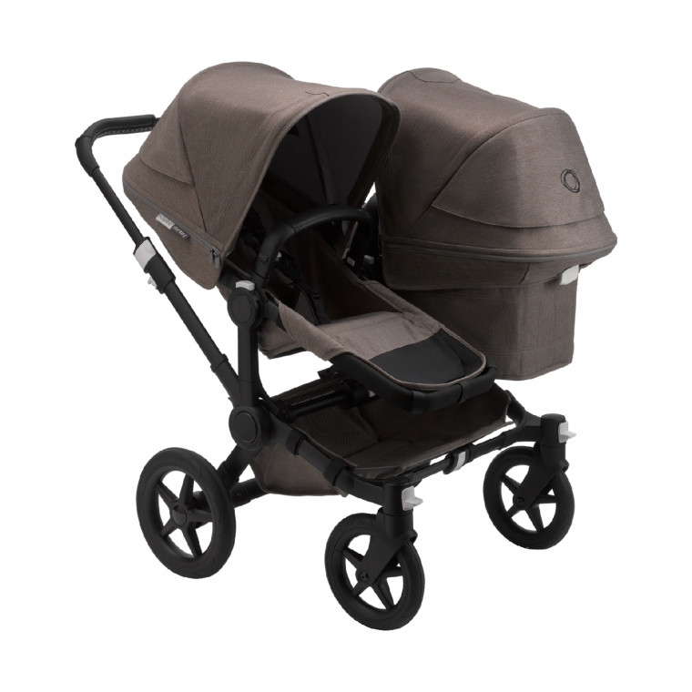 Bugaboo Donkey 3 Duo Mineral Kinderwagen 2-in-1 Black  Taupe