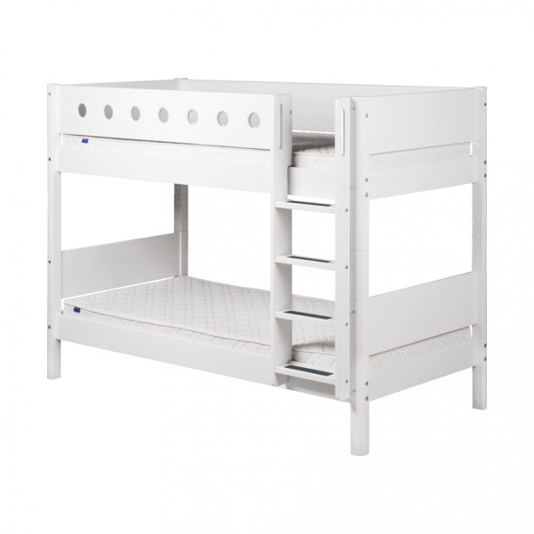Flexa White Stapelbed Rechte Trap Wit / Wit