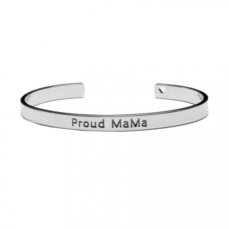 Proud MaMa Bangle Armband Zilver