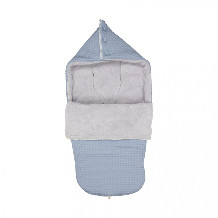 Koeka Buggy Voetenzak Wafel / Teddy Oslo Soft Blue