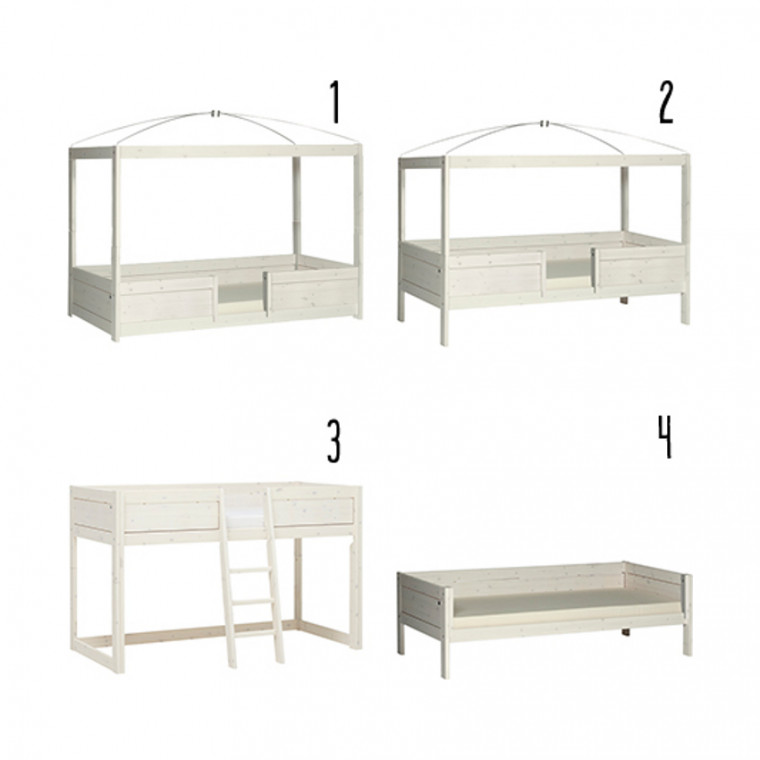 Life Time 4 in 1 Bedcombinatie Luxe Whitewash