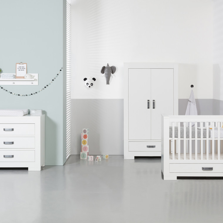 Kidsmill Brent Babykamer Wit | Bed Incl. Lade 70 x 140 cm + Commode