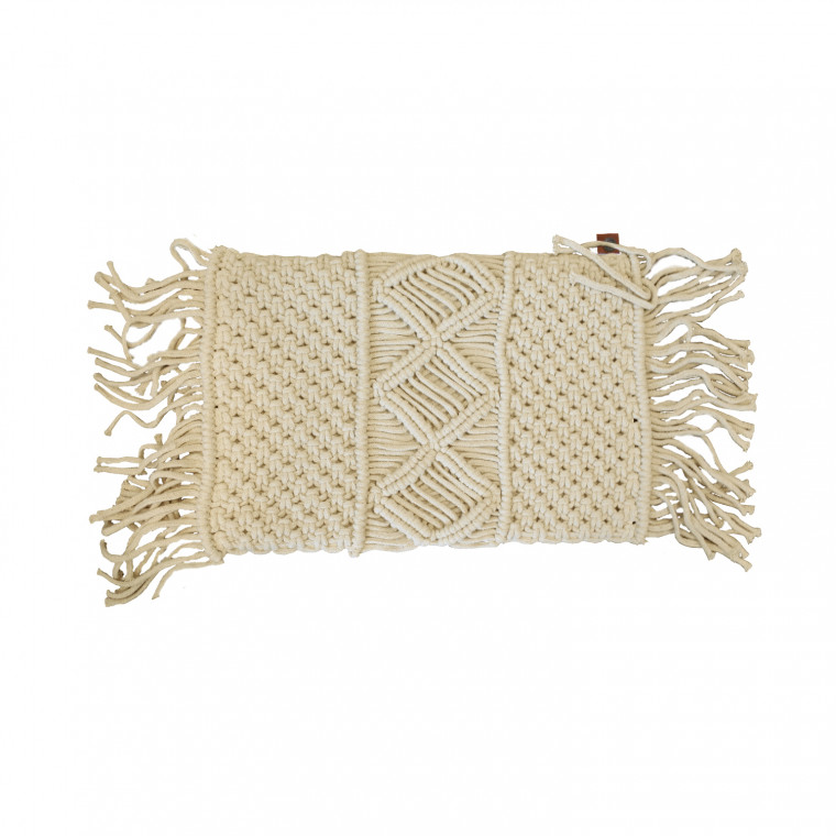 Overseas Gracio Natural Knitted Kussen Natural 30x 50 cm