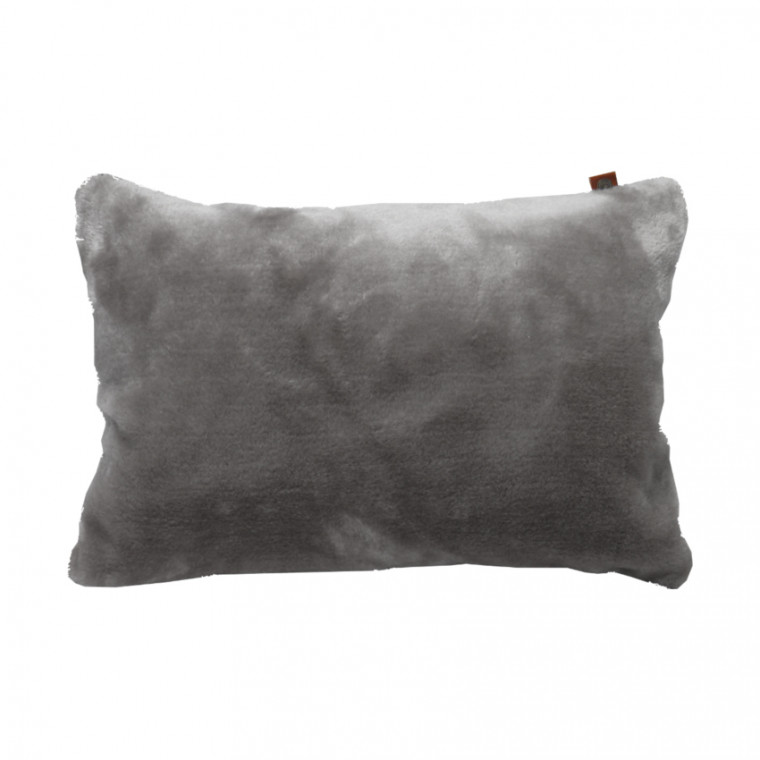 Overseas Kussen Fur Light Grey 30 x 50 cm