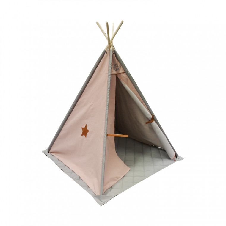 Overseas Tipi Tent Canvas Luxe Smoke / Blush
