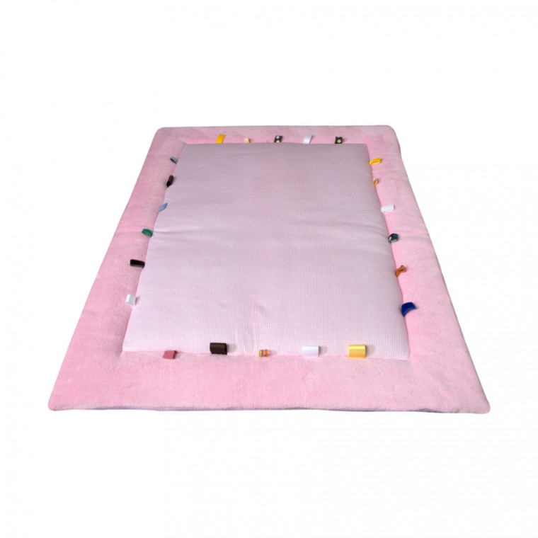 Snoozebaby Boxkleed Cheerful Playing Powder Pink 85 x 105 cm