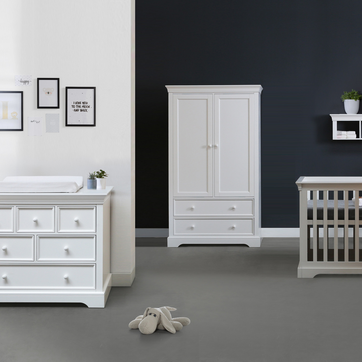 Commode Of Ladenkast.Kidsmill Chateau Babykamer Wit Bed 60 X 120 Cm Commode Kast 2