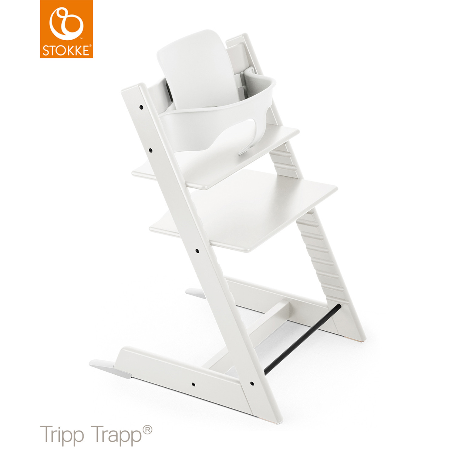 stokke tripp trapp wit incl babyset babypark. Black Bedroom Furniture Sets. Home Design Ideas