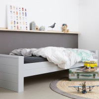 Woood Dennis Bed Beton Grey 90 x 200 cm