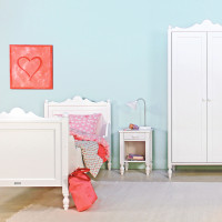 Kinderkamer Belle Wit - Bed - Bureau