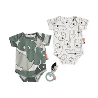 Done by Deer Tiny Tropics Giftset Body Set & Rattle