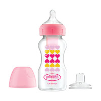Dr. Brown's Options+ Starter Kit Fles / Sippy Roze 270 ml