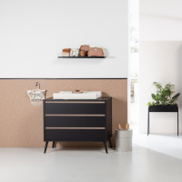 Europe Baby Sterre Commode Zwart / Oak