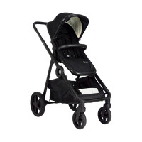 Qtus DuetPro Kinderwagen 2-in-1 Black - Full Black