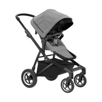 Thule Sleek Kinderwagen 2-in-1 Grey Melange On Black