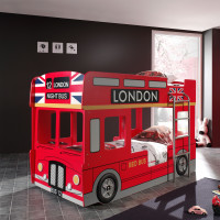 Vipack London Stapelbed Rood