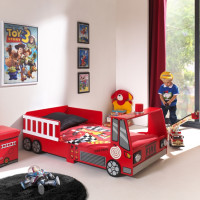 Vipack Toddler Fire Truck Bed 70 x 140 cm