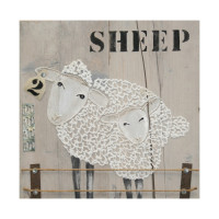 Artworxs Schilderij Fiore Two Sheeps 3D