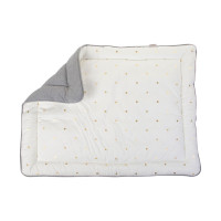 Childhome Boxkleed Grey / Gold Dots 75 x 95 cm