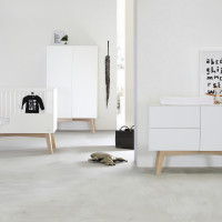 Kidsmill Sixties Babykamer Wit Mat / Naturel