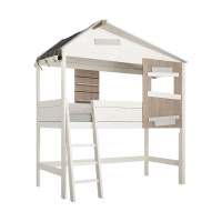 LIFETIME Kidsrooms The Hideout Halfhoog Hutbed Luxe Whitewash