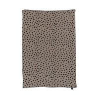Mies & Co Bold Dots Waskussenhoes Dark Brown