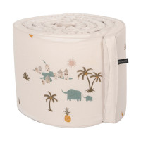 Roommate Tropical Bed  Boxbumper Offwhite