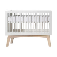 Kidsmill Sixties Babybed Wit Mat / Naturel 60 x 120 cm